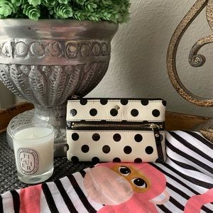 Kate Spade - Polka dot patent leather wristlet